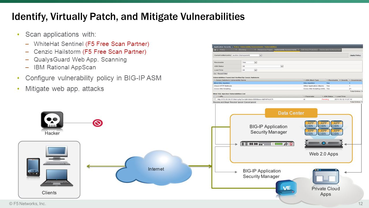 Identify, Virtually Patch, and Mitigate Vulnerabilities