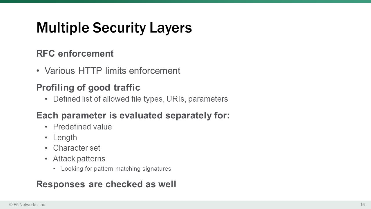 Multiple Security Layers