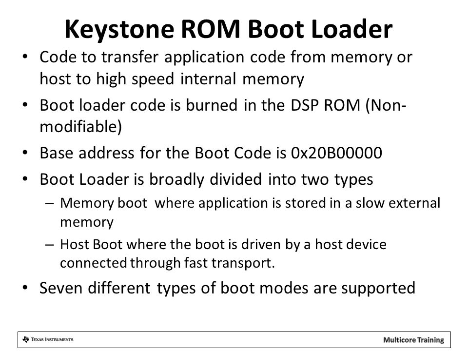 Keystone ROM Boot Loader