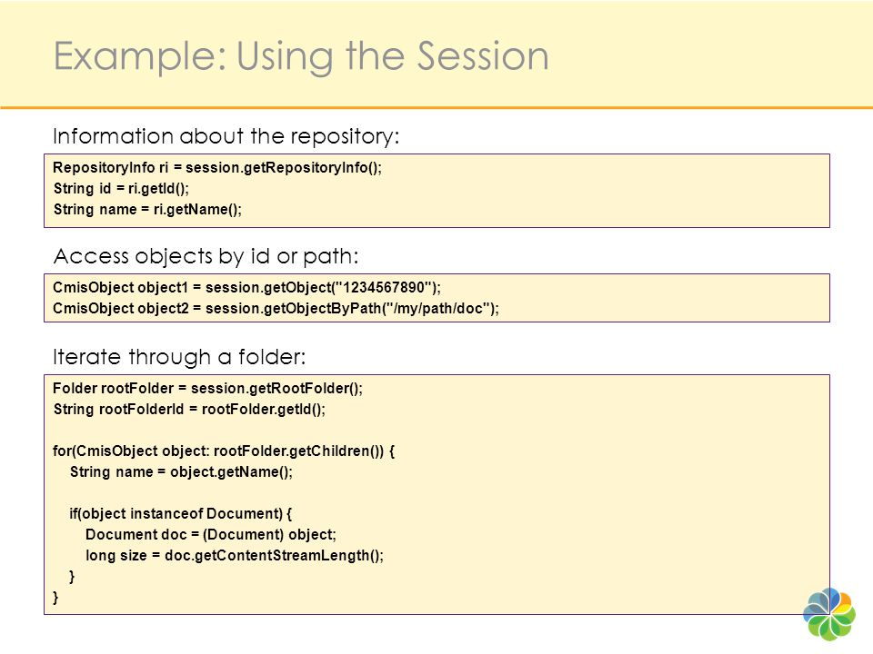 Example: Using the Session