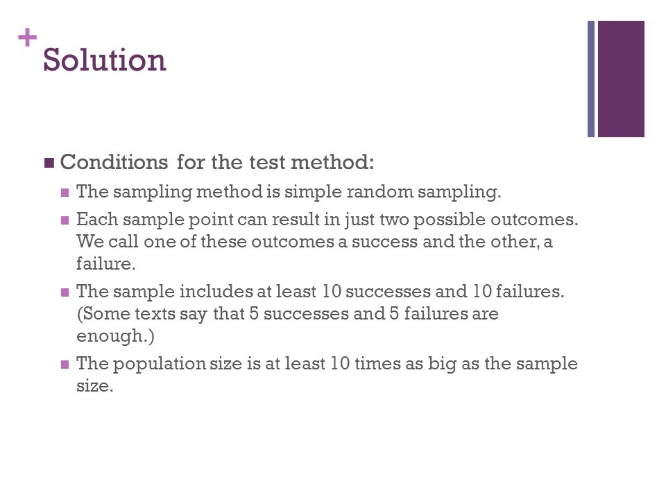 Solution Conditions for the test method: