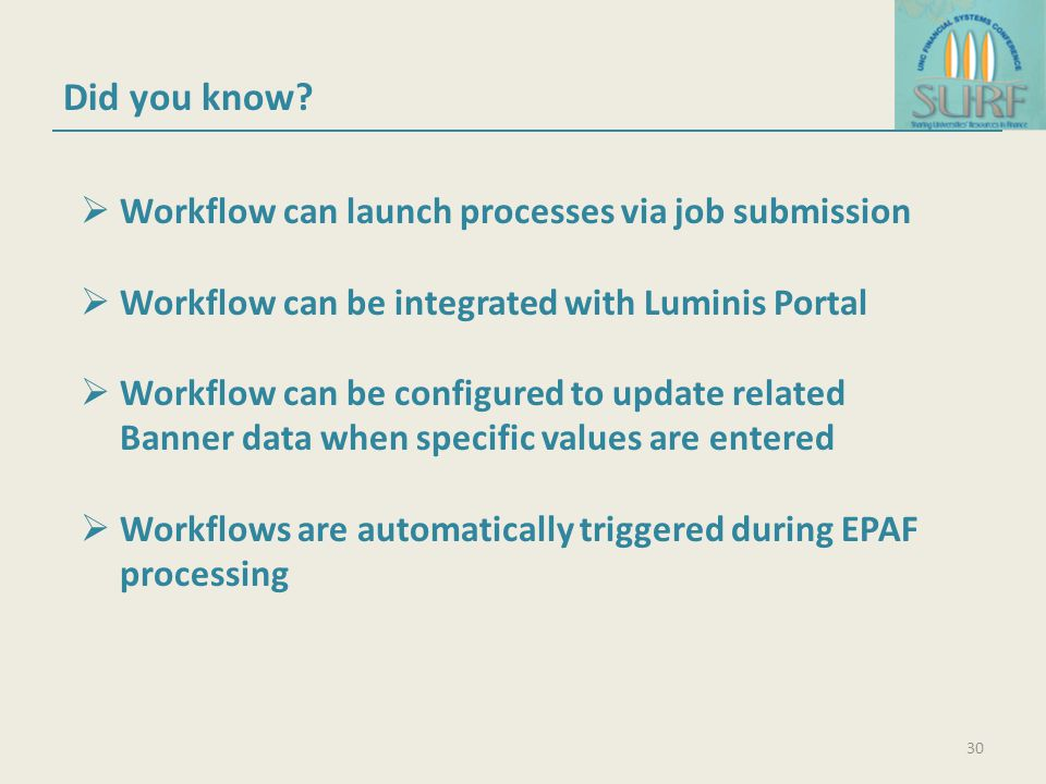 Did you know Workflow can launch processes via job submission