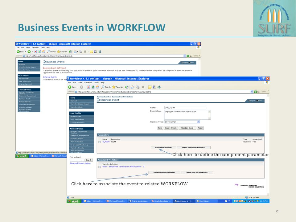 Business Events in WORKFLOW