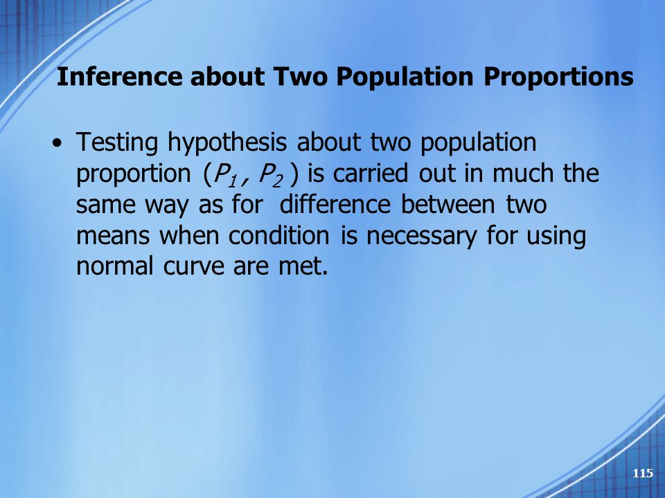 Inference about Two Population Proportions
