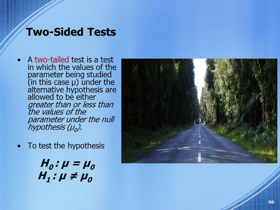 Two-Sided Tests
