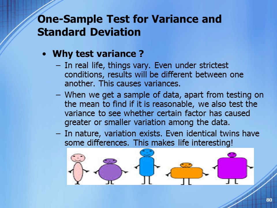 One-Sample Test for Variance and Standard Deviation