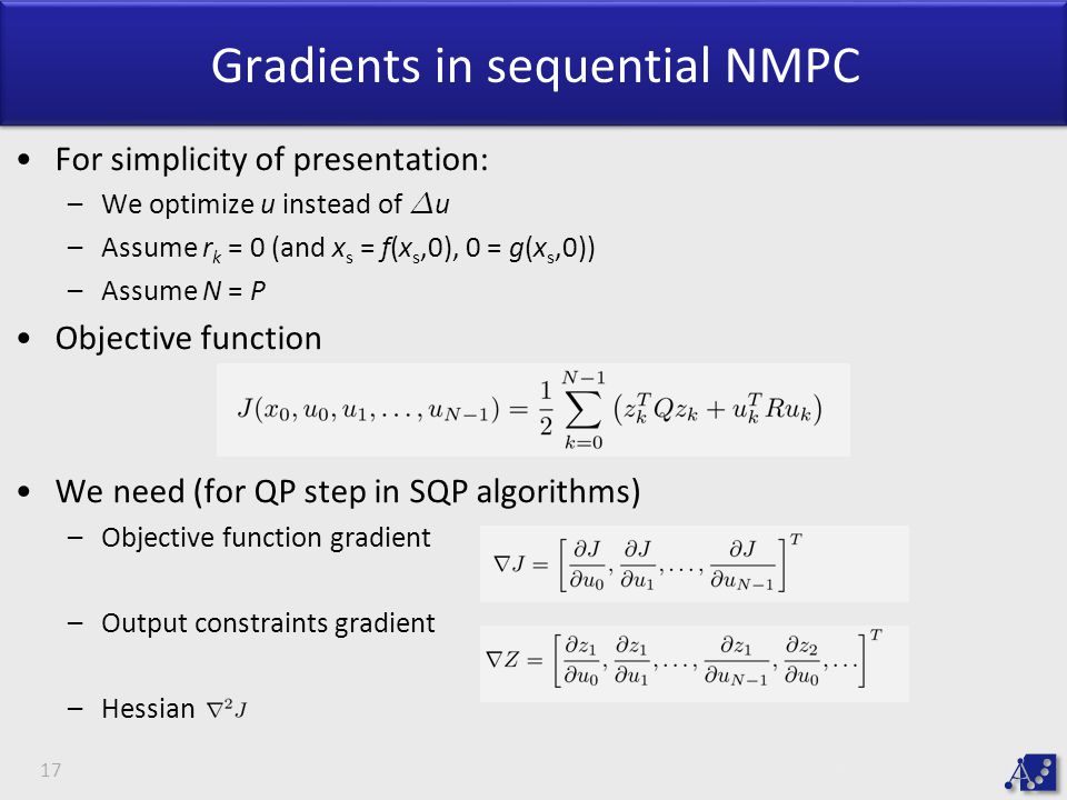 Gradients in sequential NMPC