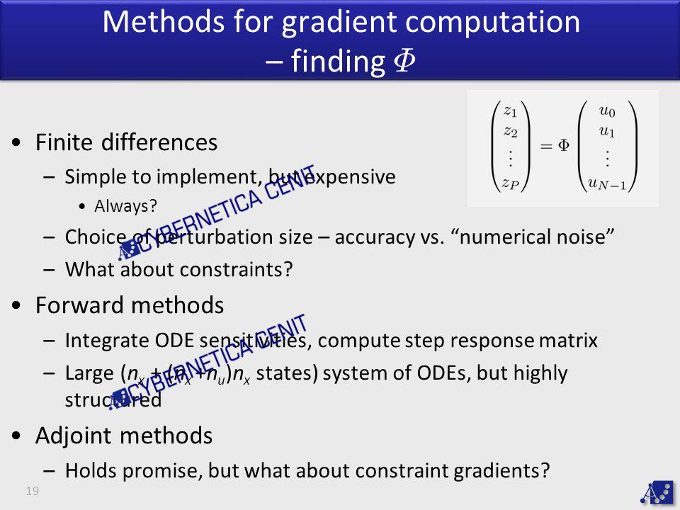 Methods for gradient computation – finding ©