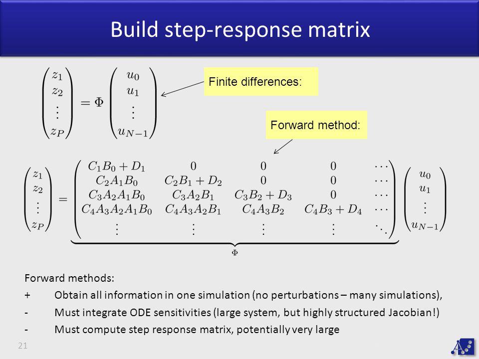 Build step-response matrix