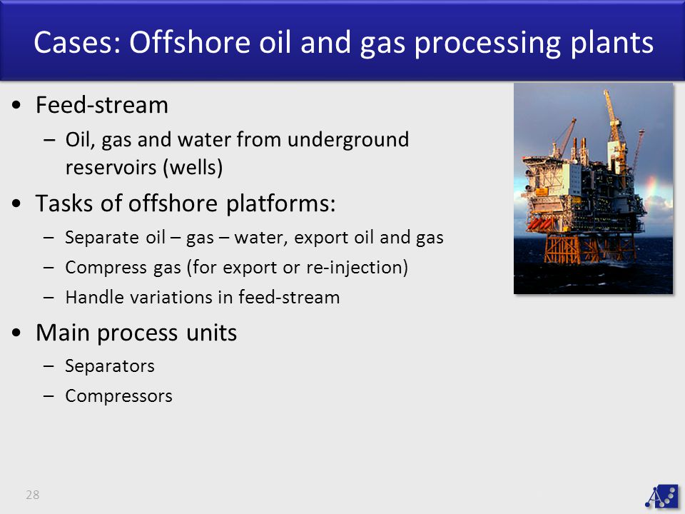 Cases: Offshore oil and gas processing plants