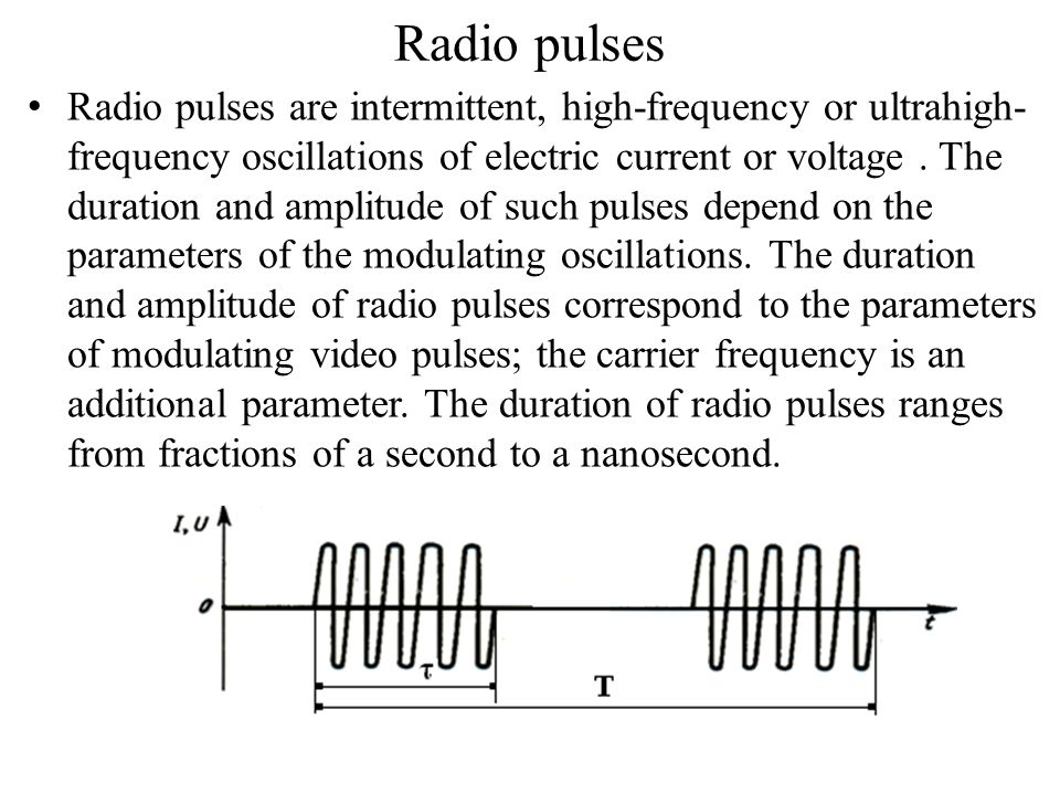 Radio pulses