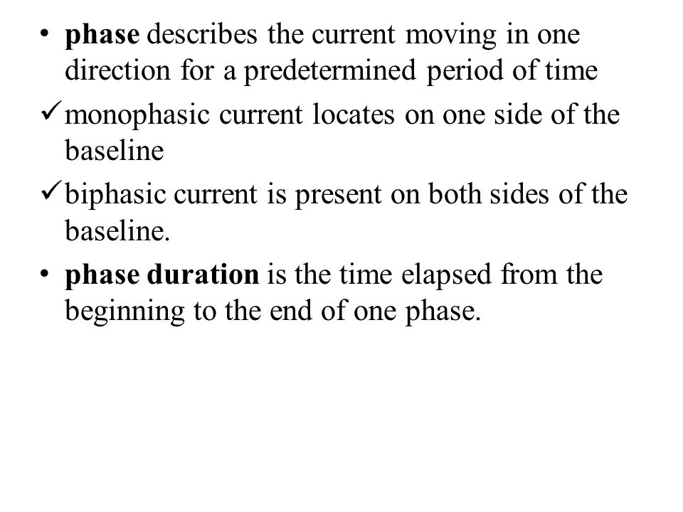 phase describes the current moving in one direction for a predetermined period of time