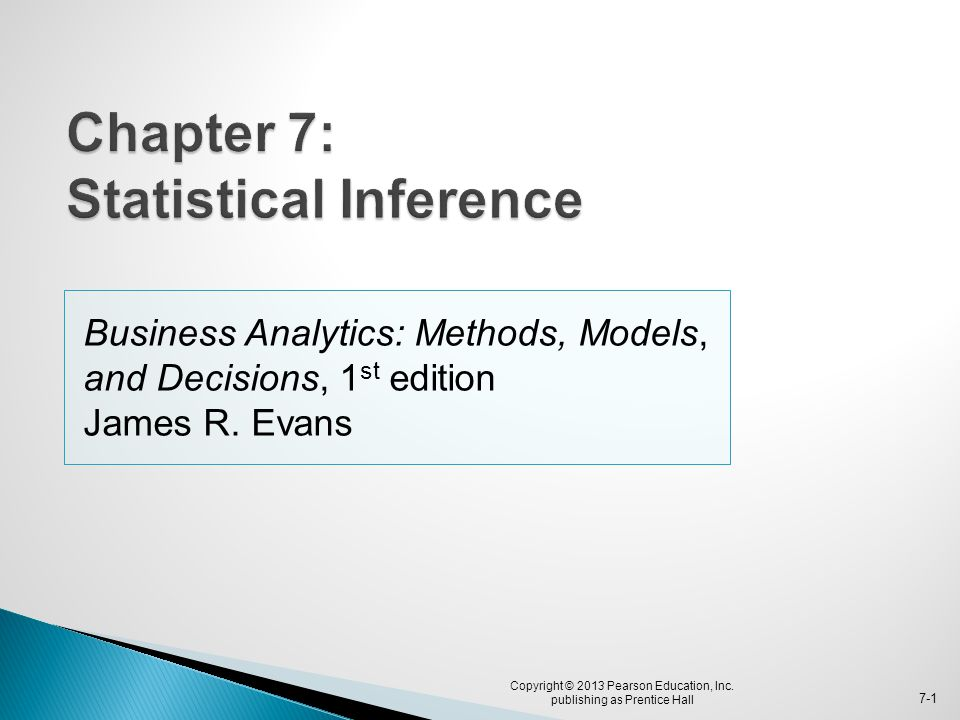Chapter 7: Statistical Inference