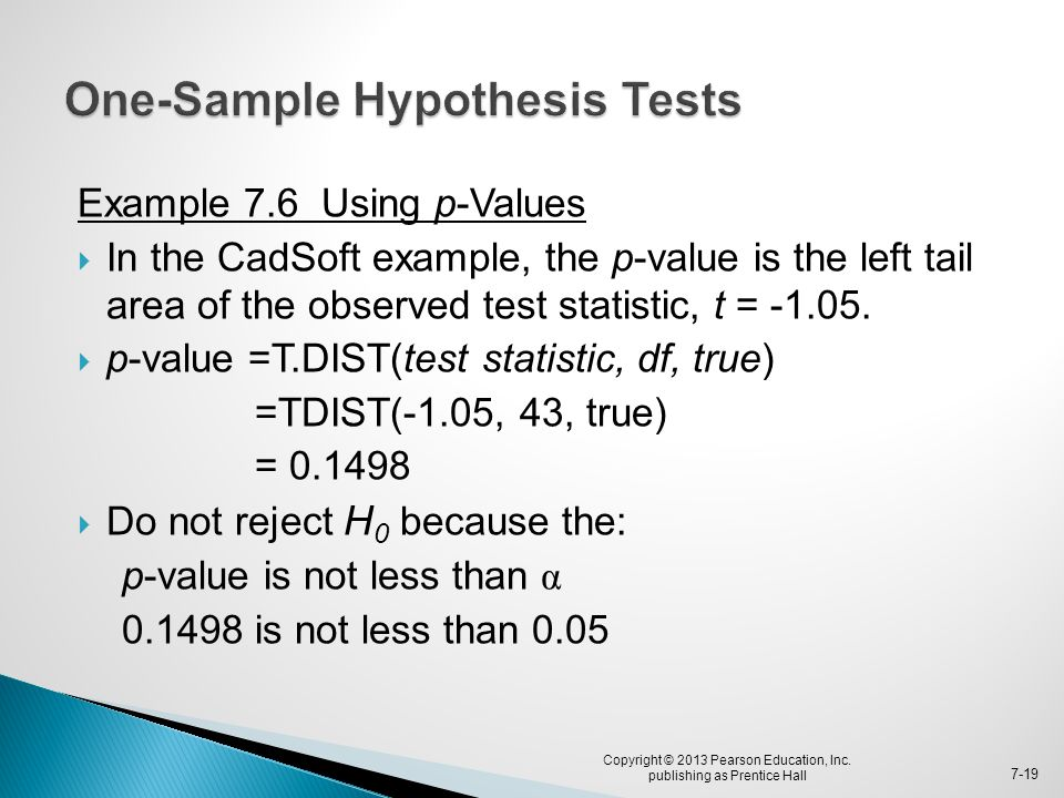 One-Sample Hypothesis Tests