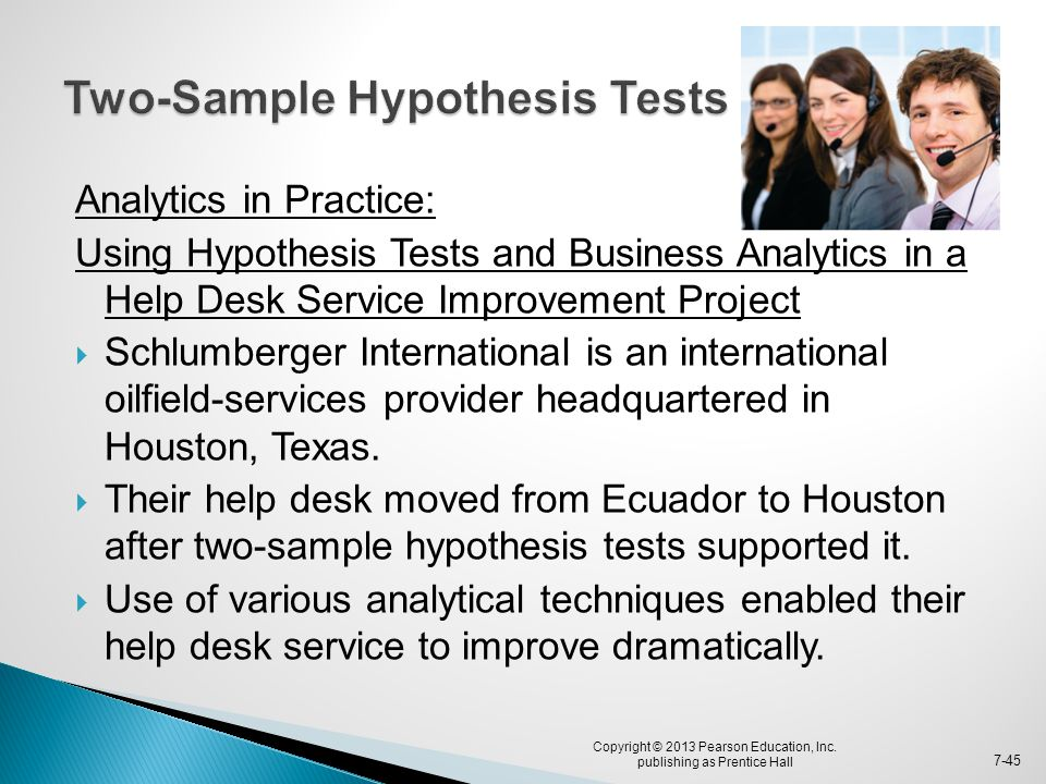 Two-Sample Hypothesis Tests