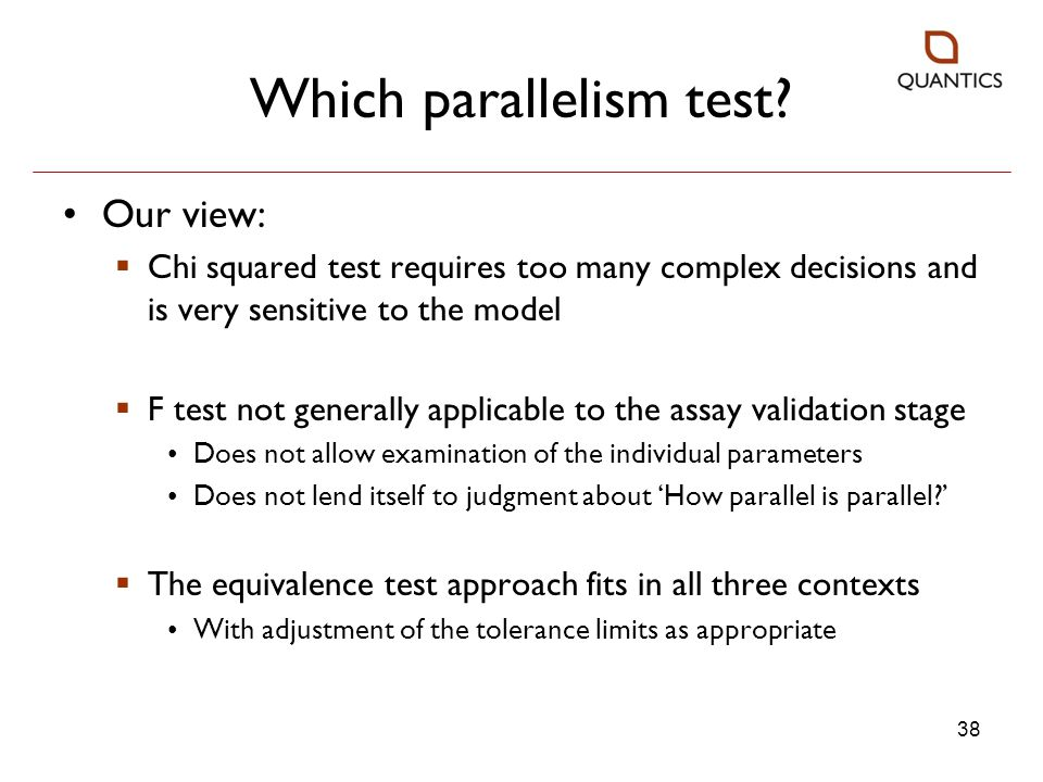 Which parallelism test
