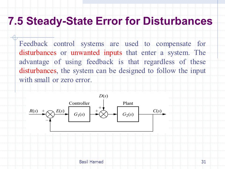 7.5 Steady-State Error for Disturbances