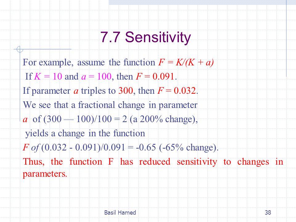 7.7 Sensitivity