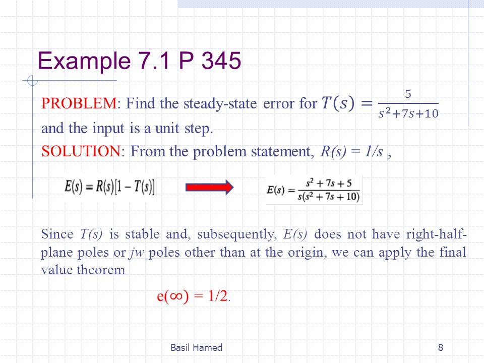 Example 7.1 P 345