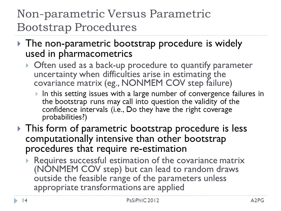 Non-parametric Versus Parametric Bootstrap Procedures