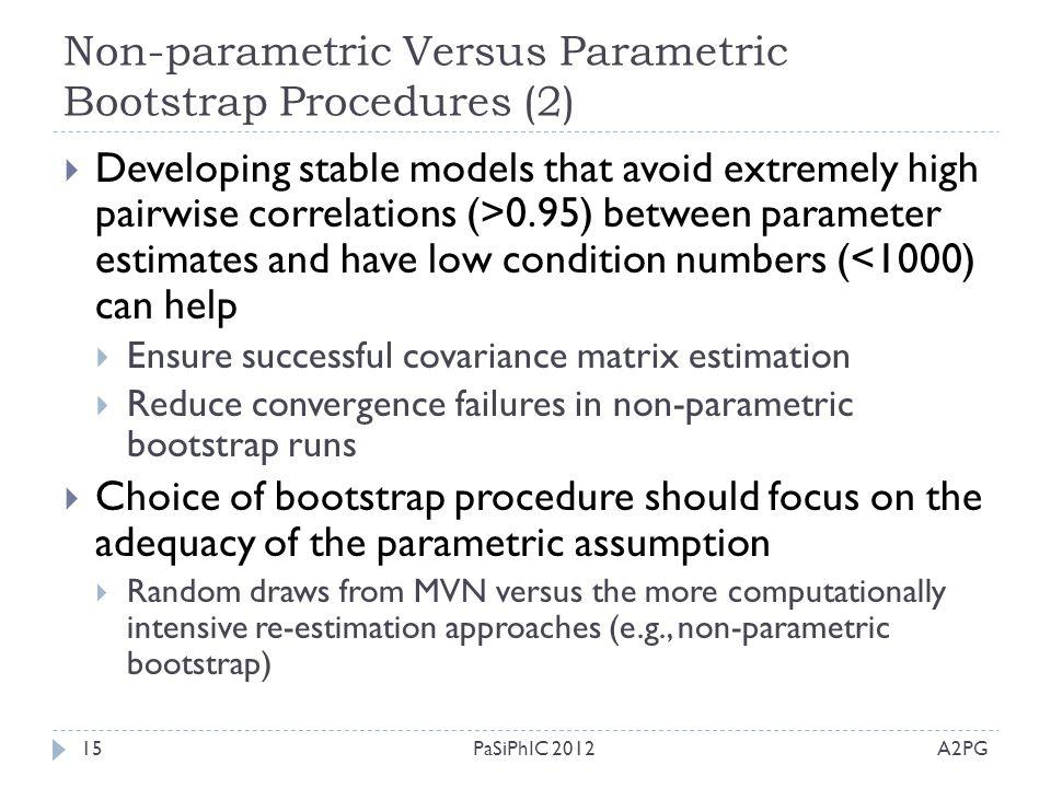 Non-parametric Versus Parametric Bootstrap Procedures (2)