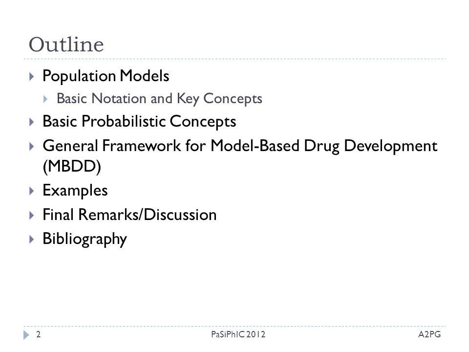 Outline Population Models Basic Probabilistic Concepts