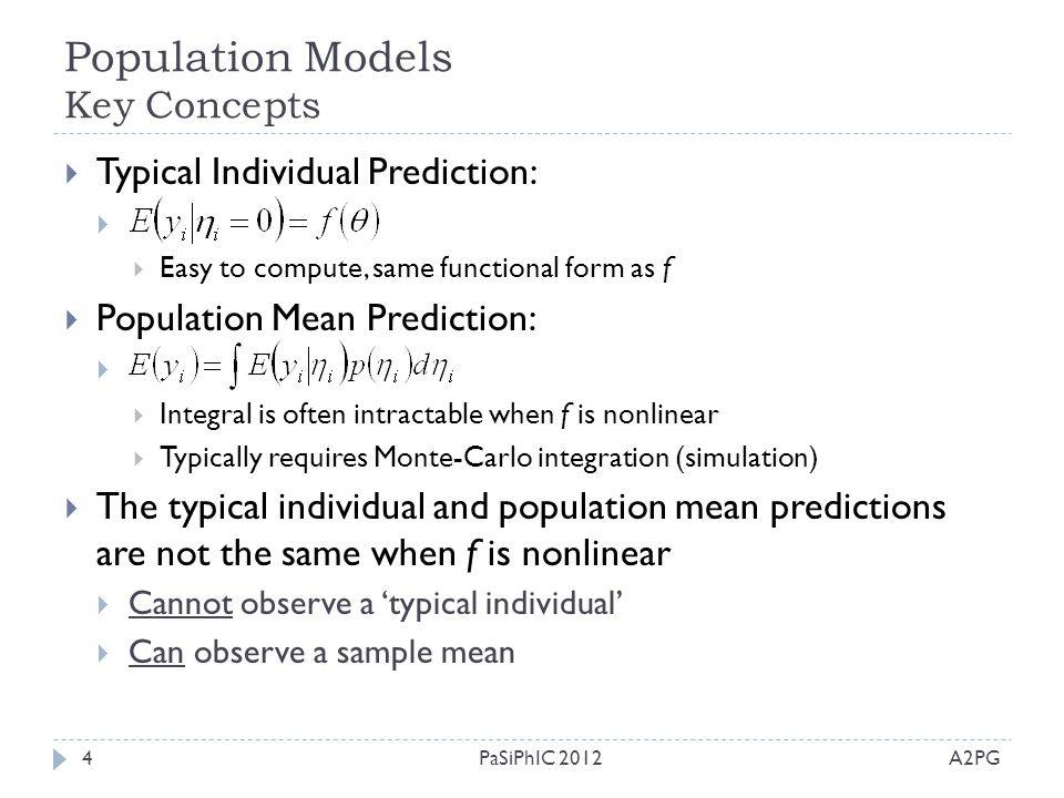 Population Models Key Concepts