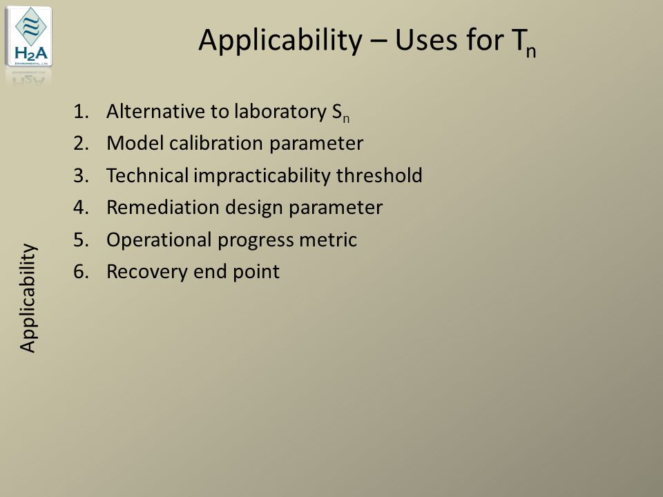 Applicability – Uses for Tn