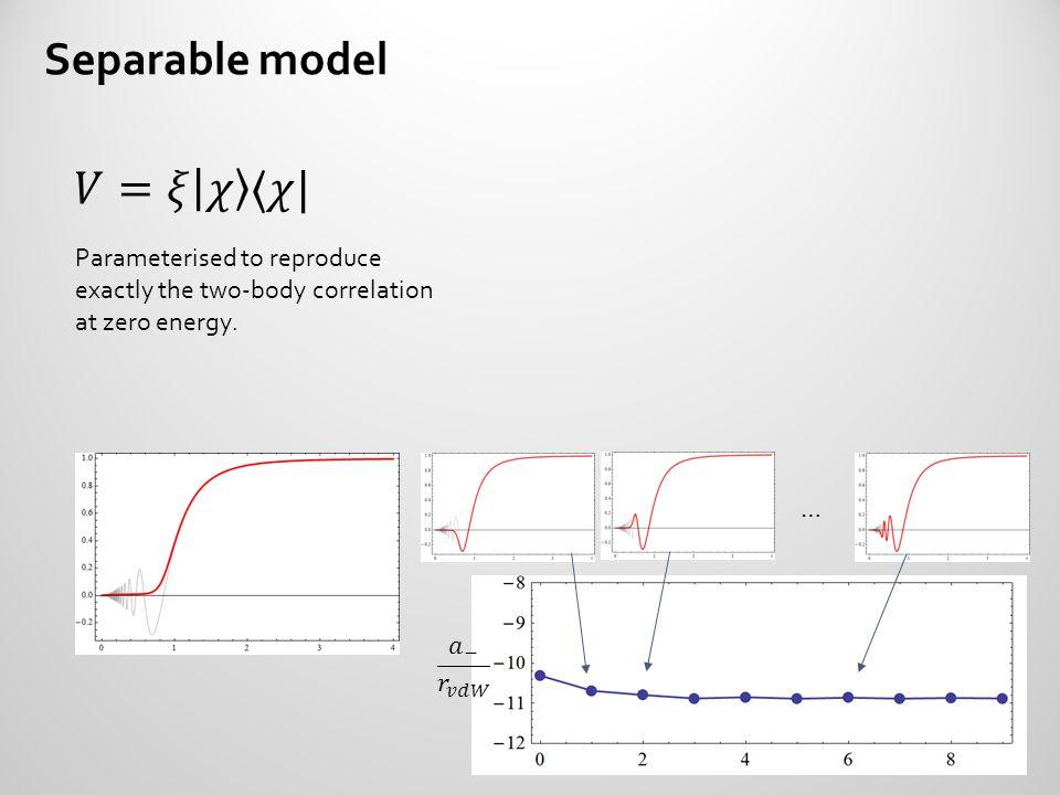 Separable model 𝑉=𝜉 𝜒 〈𝜒|