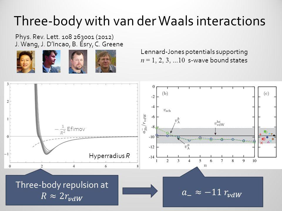 Three-body with van der Waals interactions