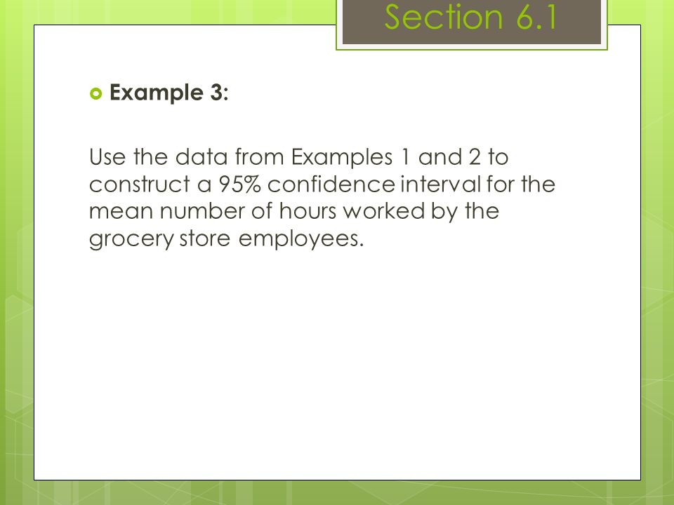 Section 6.1 Example 3: