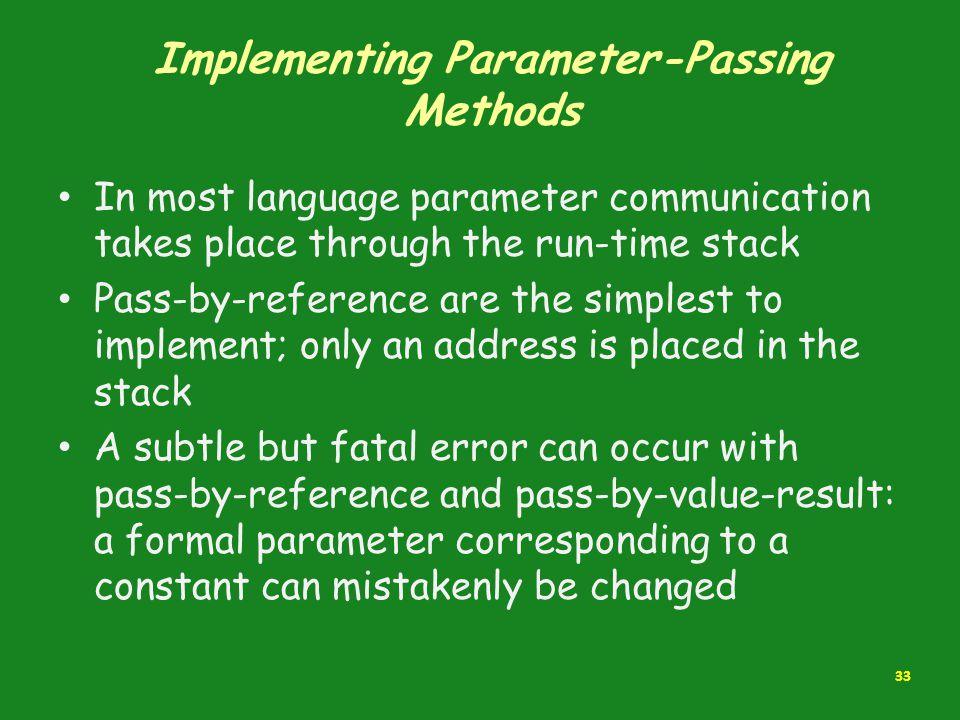 Implementing Parameter-Passing Methods