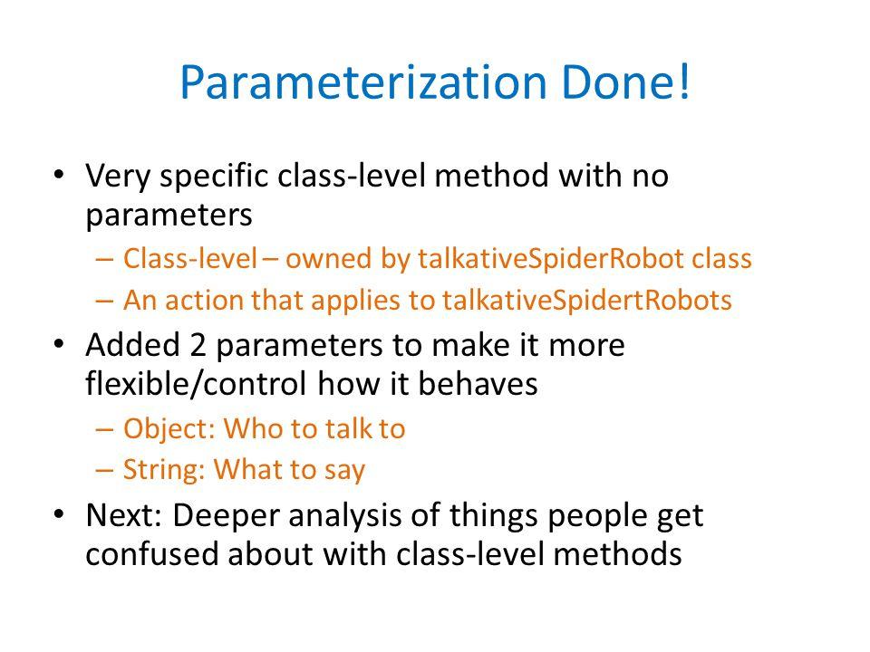 Parameterization Done!