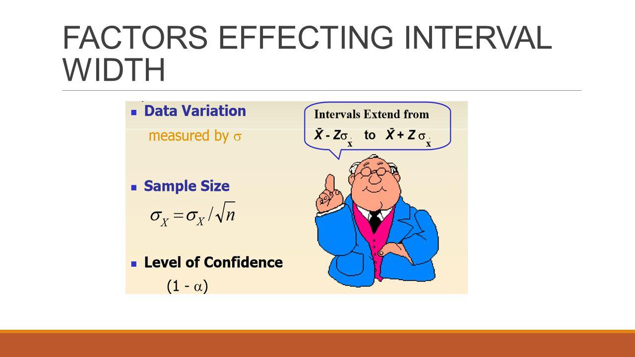 FACTORS EFFECTING INTERVAL WIDTH