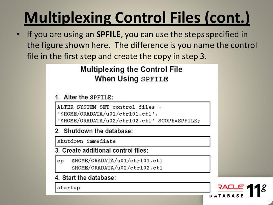 Multiplexing Control Files (cont.)