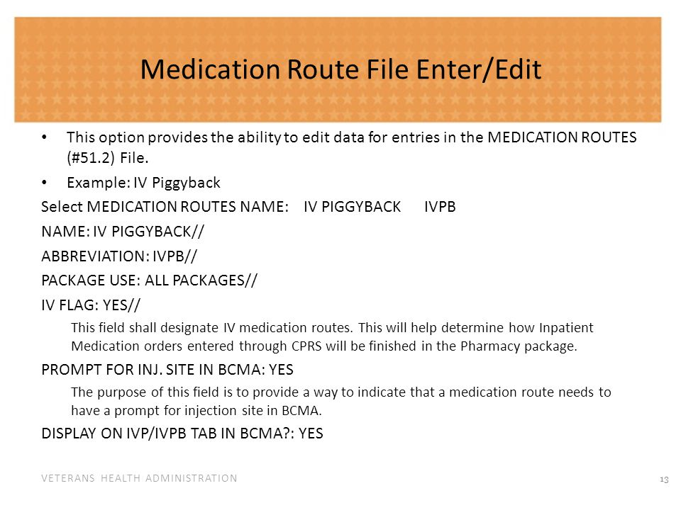 Synonym Enter/Edit The option provides easy access to update the synonym information for an entry in the local DRUG file.