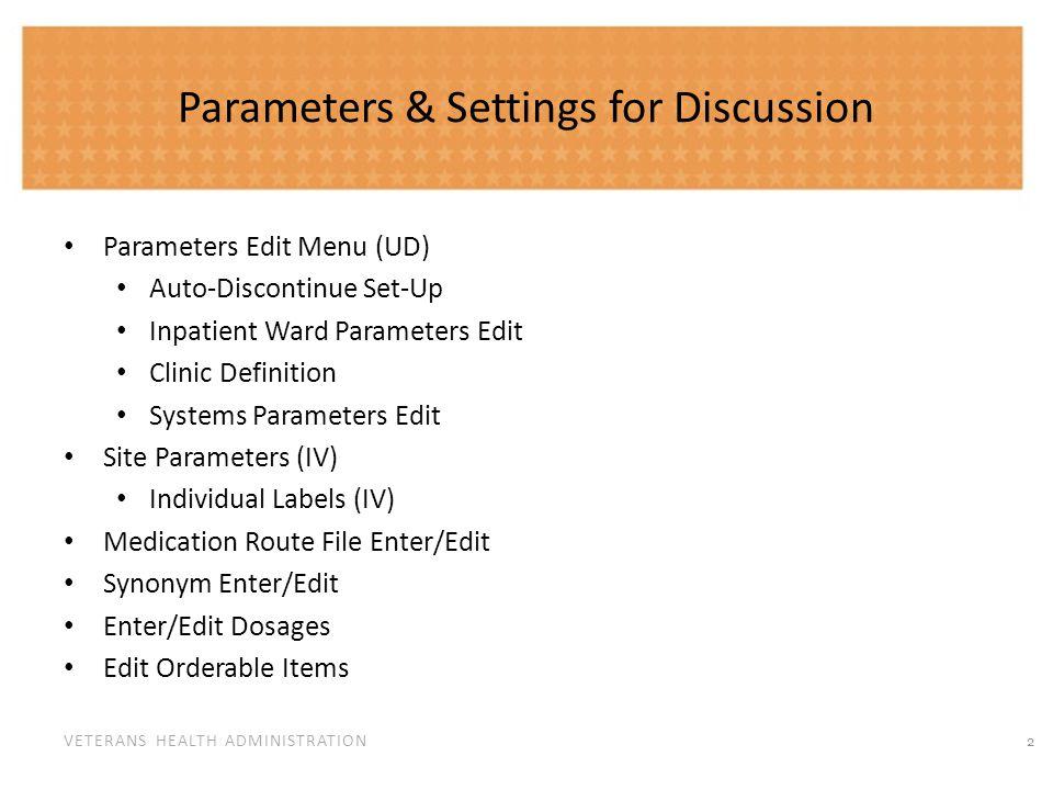 Parameter Menu Edit (UD)