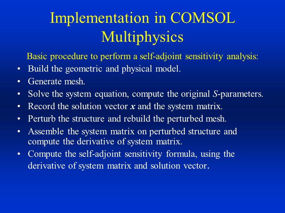 Implementation in COMSOL Multiphysics