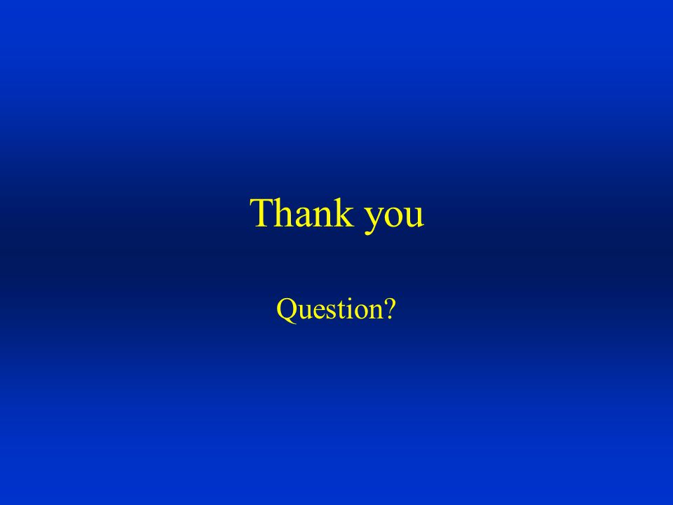 Thank you Question