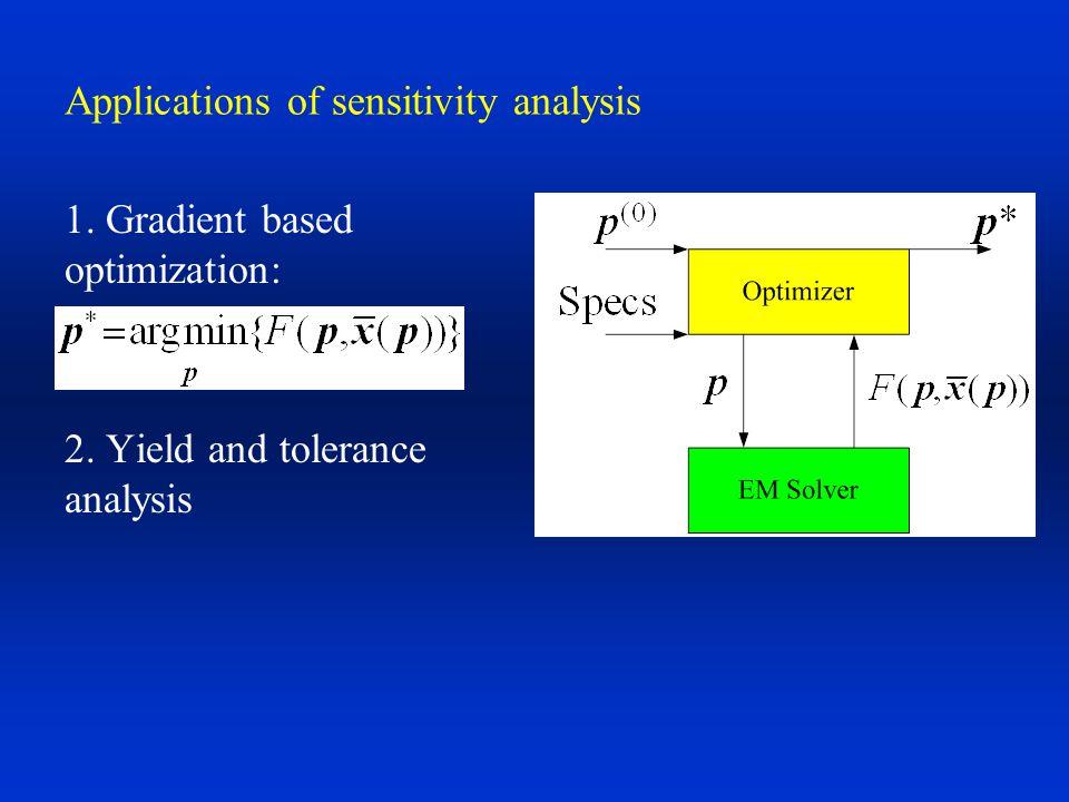 Applications of sensitivity analysis