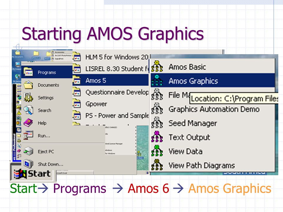 Starting AMOS Graphics