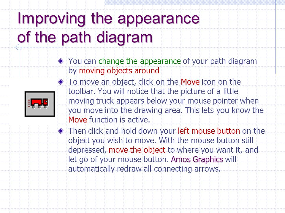 Improving the appearance of the path diagram