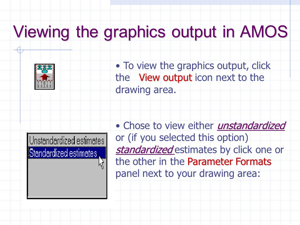 Viewing the graphics output in AMOS
