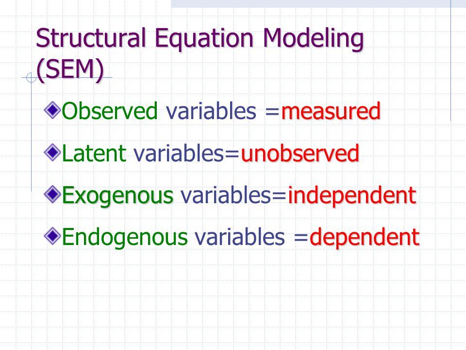 Structural Equation Modeling (SEM)