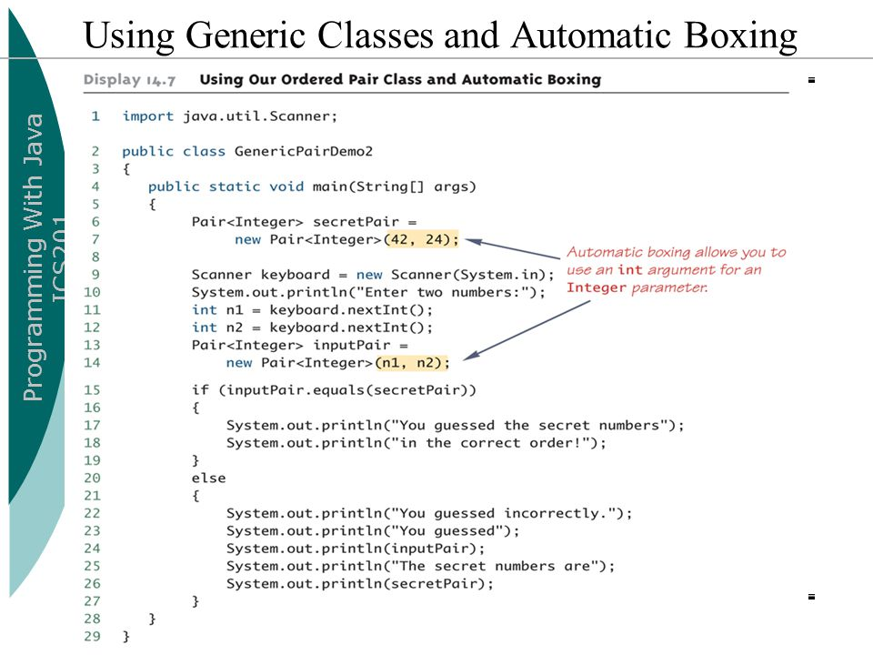 Using Generic Classes and Automatic Boxing