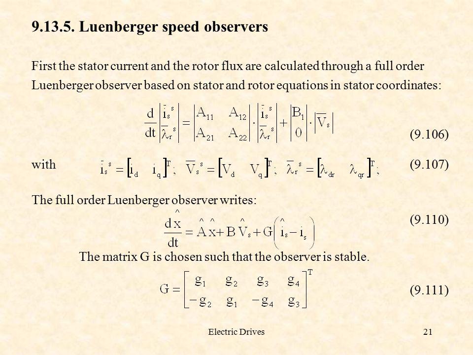 9.13.5. Luenberger speed observers