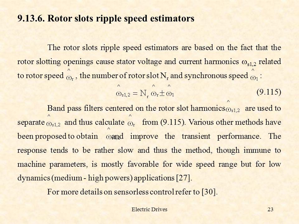 9.13.6. Rotor slots ripple speed estimators