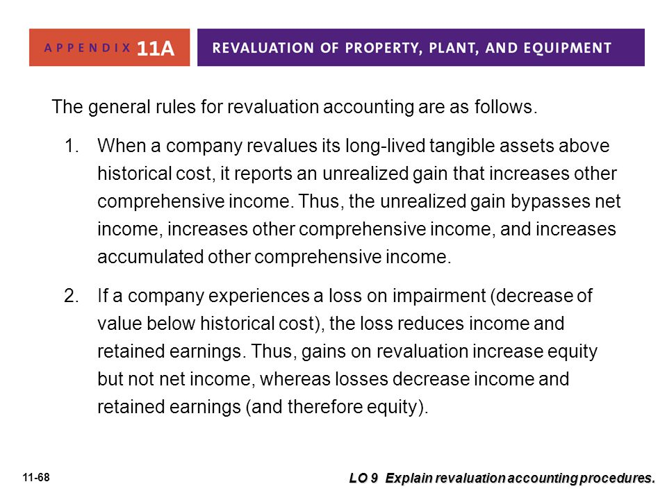 The general rules for revaluation accounting are as follows.