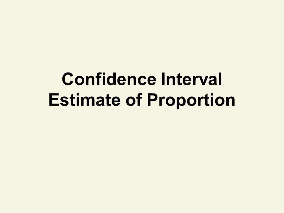 Confidence Interval Estimate of Proportion