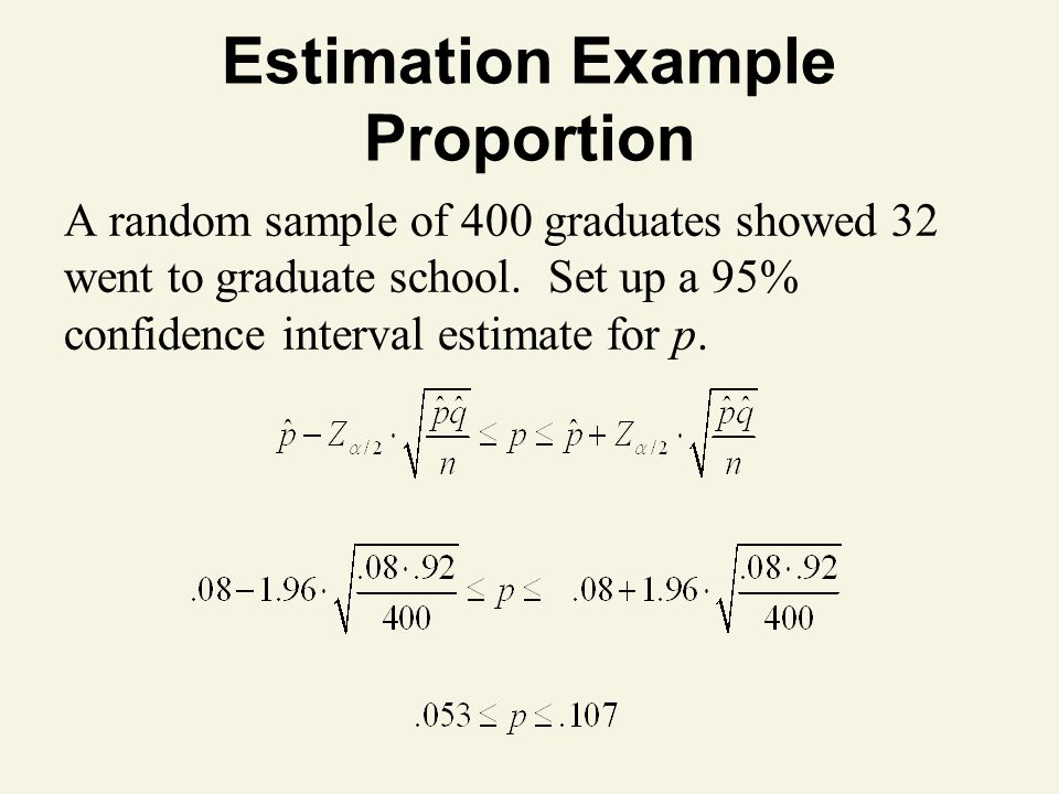 Estimation Example Proportion